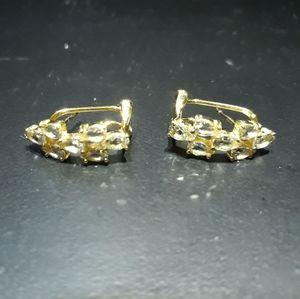 Natural Aquamarine Cluster Earrings c5